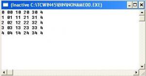 contoh program sederhana perulangan bersarang for 2