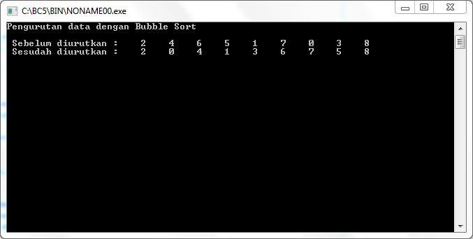 output-program-bubble-sort