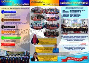 desain brosur PMB 2019 Unvic Sorong (belakang) ukuran A4