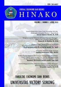 desain cover Jurnal Hinako FEB Unvic Sorong ukuran A4