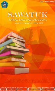 desain cover Jurnal Sawatuk Unvic Sorong ukuran A4