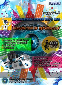 desain poster brosur ISE 2019 FILKOM ukuran A4