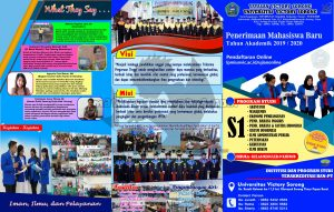 desain poster brosur PMB 2019 Unvic Sorong ukuran F4